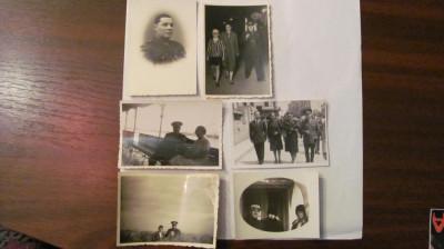 CY - Set 6 fotografii vechi cu militari romani foto