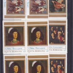 Corneliu Baba pictura, nr lista 1085, bloc de 4, Romania. - Timbre Romania, Nestampilat