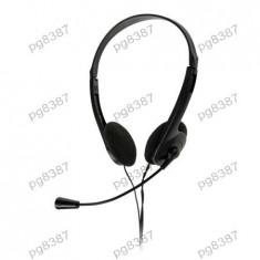 Casca audio cu microfon, jack 3, 5mm, Quer - 401038 - Casca PC