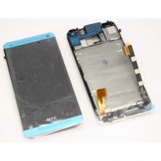 Display HTC One M7 silver touchscreen lcd rama - Display LCD