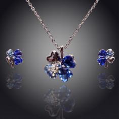 Set de bijuterii superb placat Aur 18k, Cristale : cod 326 - Set Swarovski