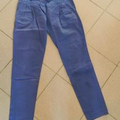 Pantaloni de dama, model pana, marimea M- 40 - Pantaloni dama, Marime: M, Culoare: Albastru, Bumbac