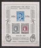 Argentina.1956 100 ani marca postala-Bl.  DC.305
