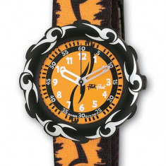 Swatch Flik Flak Orange Tribal nou cu garantie - Ceas copii Swatch, Analog, 6-10 ani