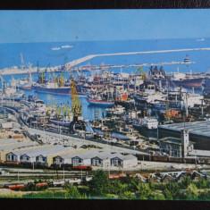 Vedere/Carte postala - RPR - Constanta - Vedere din port - Carte Postala Banat dupa 1918