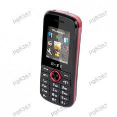Telefon GSM Dual Sim M-Life - 400397 - Telefon mobil Dual SIM, Negru, Nu se aplica, Neblocat, Fara procesor
