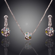 Set de bijuterii superb placat Aur 18k, Cristale :cod 325 - Set bijuterii handmade si fashion