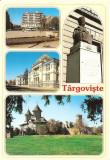 CPI (B5080) TARGOVISTE. CENTRU, UNIVERSITATEA, MUZEUL DE ISTORIE, STATUIA IENACHITA VACARESCU, EDITURA ARMONIA, NECIRCULATA, Fotografie