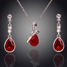 Set de bijuterii superb placat Aur 18k, Cristale : cod 285 - Set Swarovski