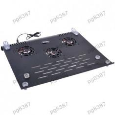 Cooler laptop, cu 3 ventilatoare, Intex ITCP03 - 401050 - Masa Laptop