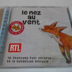 MUZICA PENTRU COPII - LE NEZ AU VENT - FRANCEZA, CD