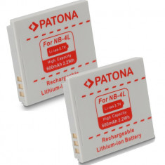 A PATONA | 2 Acumulatori compatibili Canon NB-4L NB-4LH NB4L - Baterie Aparat foto