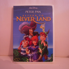 Vand dvd desene animate Peter Pan-Return To Never Land, sistem NTSC, original, raritate! - Film animatie disney pictures, Engleza