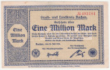 (7) BANCNOTA (NOTGELD) - GERMANIA - AACHEN - 1.000.000 MARK 1923 (20 IULIE 1923)