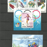 Romania - OLIMPIADA ALBERTVILLE 1992, serie, colita dt si ndtZ1274 - Timbre Romania, An: 1292, Sport, Nestampilat