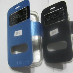 HUSA FLIP SAMSUNG GALAXY ACE 4 G357FZ / G313 CU S- VIEW INCHIDERE MAGNETICA NU MAI ESTE NECESAR DESCHIDEREA CAPACULUI - Husa Telefon Belkin, Negru, Piele, Cu clapeta