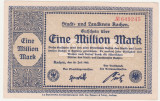 (3) BANCNOTA (NOTGELD) - GERMANIA - AACHEN - 1.000.000 MARK 1923 (20 IULIE 1923)