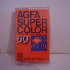 Vand caseta audio AGFA Super Color 60, originala, raritate!