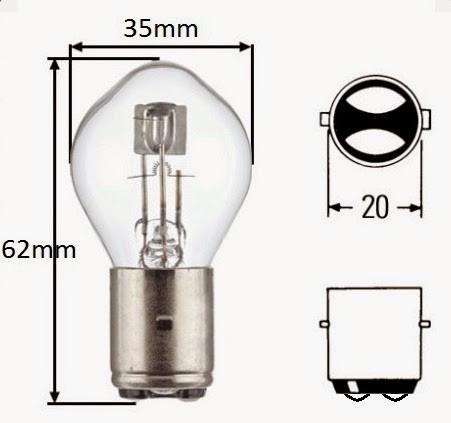 Bec / Lumini ( para ) far Moto Scuter Peugeot Elyseo ( 2 faze / 12v - 35W/35W )