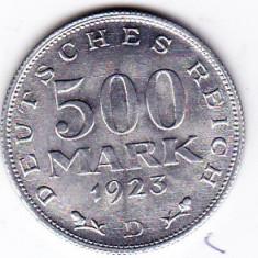 1) Germania 500 MARK 1923 D  a.UNC/UNC Republica de la Weimar