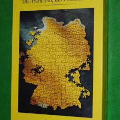 Puzzle harta Germaniei, 387 piese, 36x50 cm, Deutschland, ein puzzlespiel, Postdienst