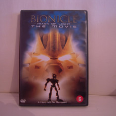 Vand dvd desene animate Bionicle-The Movie, Mask of Light, sistem zona 2, original, raritate! - Film animatie Altele, Engleza