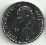 Congo 1 franc 2004 UNC Papa 1978, Africa