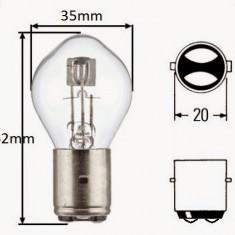 Bec / Lumini ( para ) far Moto Scuter MBK Ovetto ( 2 faze / 12v - 35W/35W ) - Becuri Moto