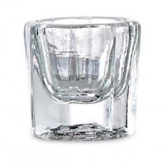 Vas din sticla pentru prepararea acrilului folosit in manichiura