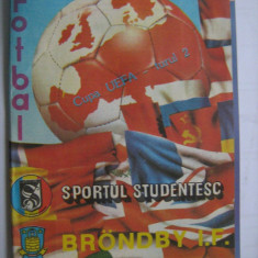 Sportul Studentesc-Brondby IF (4 noiembrie 1987) / program meci