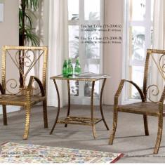 Set Masa cafea + 2 scaune tip fotoliu - Set mobila living