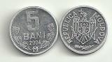 MOLDOVA  5 BANI  2004 [1]  livrare in cartonas, Europa, Aluminiu