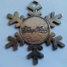 Pandantiv  inscriptionat Blackpearl Industry metal cromat .