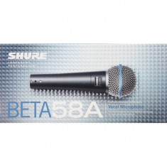 Microfon Shure Incorporated Shure Beta 58A vocal profesional cu fir Microfon Shure Incorporated Shure Beta 58A