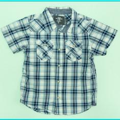 NOUA, DE FIRMA → Camasa de vara, bumbac, H&M → baieti | 4 - 5 ani | 104-110 cm, Marime: Alta, Culoare: Albastru