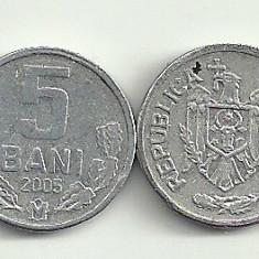 MOLDOVA 5 BANI 2005 [2] livrare in cartonas, Europa, Aluminiu