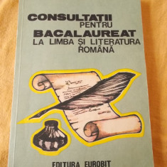 CONSULTATII PENTRU BACALAUREAT LA LIMBA SI LITERATURA STRAINA .