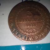 3 KREUTZER 1812 FRUMOASA DE COLECTIE 2 AURIE - Moneda Medievala, Europa