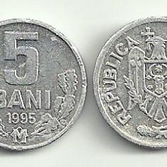 MOLDOVA 5 BANI 1995 [2] livrare in cartonas, Europa