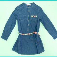 NOUA _ Rochie blugi, subtire, TEX _ fetite | 3-4 ani (104) | 4-5 ani (110) cm, Marime: One size, Alta, Culoare: Albastru
