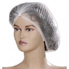 Boneta medicala cu elastic alb, set de 10 bucati, bonete cosmetice