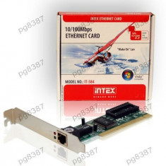 Placa de retea PCI, 10/100MB, Intex - 401084