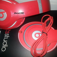 Casti beats monster STUDIO - PROFESIONALE Monster Beats by Dr. Dre, Casti Over Ear, Cu fir, Mufa 3, 5mm