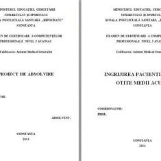 LUCRARE DE LICENTA A.M.G. - INGRIJIREA PACIENTILOR CU OTITE MEDII ACUTE - Carte ORL