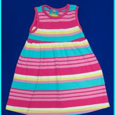 Rochie de vara din bumbac, frumoasa, TOPOLINO → fetite | 12—18 luni | 80—86 cm, Alta, Roz