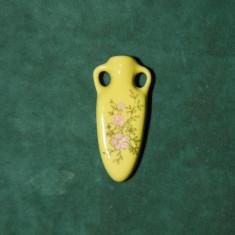 Figurina din portelan, amfora, suvenir original din Grecia, 4 cm,