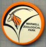 1995 INSIGNA - MARWELL - ZOOLOGICAL PARK - REGATUL UNIT AL MARII BRITANII  -starea care se vede