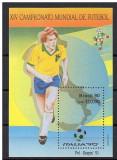 Brazilia, CM de fotbal din Italia, 1990, colita, MNH, Sport, Nestampilat