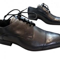 Incaltaminte barbati piele naturala Denis-2572 n - Pantofi barbat, Marime: 41, Culoare: Nero, Negru