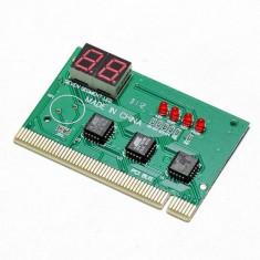 PCI tester pentru placa de baza cu coduri in doi digiti hexa pentru diagnoza